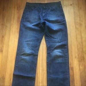 Calvin Klein Men's 32/34 Relaxed Straight Jeans